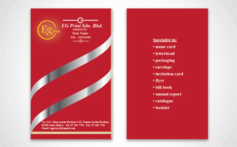 Name card eg print johor bahru professional printing services 260 gsm artcard matt lam hot stamping gold reheart Images