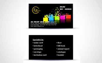 Name card eg print johor bahru professional printing services 260 gsm art card gloss lamination reheart Image collections